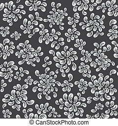 Repeating vector floral and feather