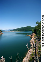 Travel destination,lake Vidraru in Romania