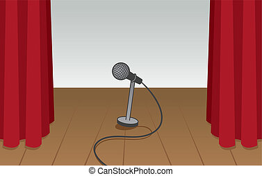 Microphone Empty Stage