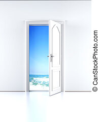 Door to the Beach - A open door to the Beach