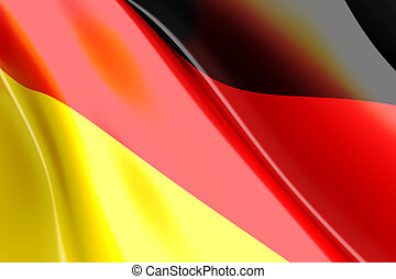 German Flag - A german flag. 3d rendered Illustration.