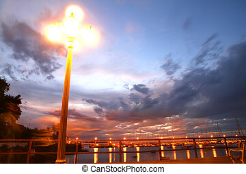 Port of Colonia - Night scene in the Port of Colonia del...
