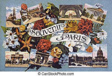 old postcard memory of Paris