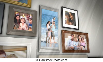 Montage of families having fun together presented in picture...