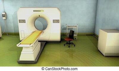 CT Scanner room.