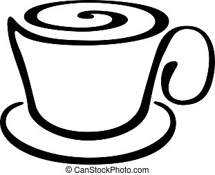 Stylized cup of coffee or tea