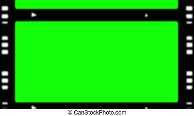 Movie strips showing chroma key spa - Movie tapes showing...