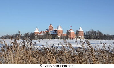 trakai castle winter