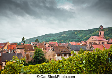 Riquewirh from north - Riquewihr view from the hills to the...