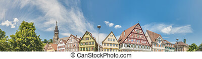 Market Square in Esslingen am Neckar, Germany - Market...