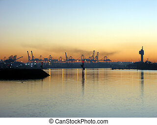 City Ports - The Melbourne City Ports across the bay with...