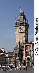 Prague - Historic Old City Hall and tower