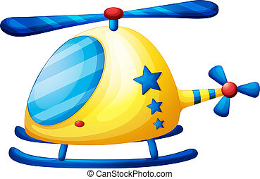 A helicopter toy - Illustration of a helicopter toy on a...