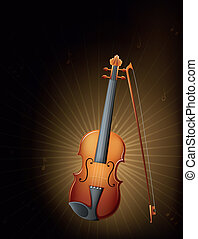 A string instrument - Illustration of a string instrument