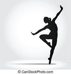 Ballet. - Ballet dancer performing.