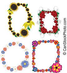 Floral Picture Frames Vectors