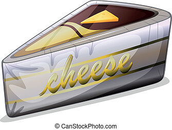 A cheese in a metallic container - Illustration of a cheese...
