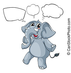 Empty thoughts of a gray elephant - Illustration of the...