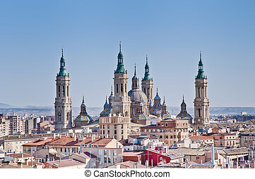 Our Lady of the Pillar Basilica at Zaragoza, Spain - Our...