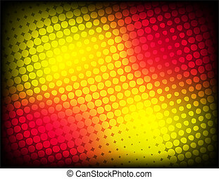 Red-yellow halftone background stock vector
