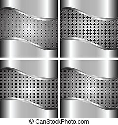 A set of metal backgrounds
