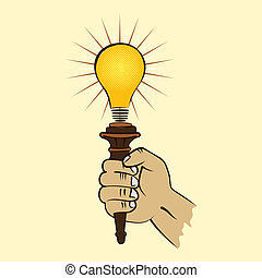 bulb torch in hand