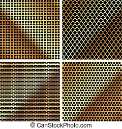 A set of metal grille 3 - A set of dark metallic grille for...