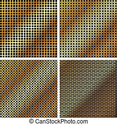 A set of metal grille 2 - A set of dark metallic grille for...