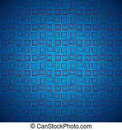 abstract blue square pattern stock vector