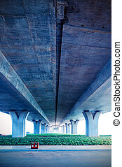 Viaduct - Highway viaduct in modern city