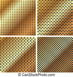A set of metal grille 3 - A set of dark gold metallic grille...