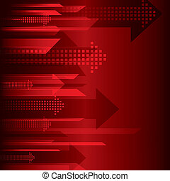 arrow red background stock vector