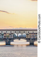 The Ponte Vecchio Old Bridge in Florence, Italy - The Ponte...