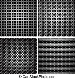 A set of metal grille 7 - A set of dark metallic grille for...