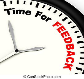 Time For feedback Shows Opinion Evaluation And Surveys -...