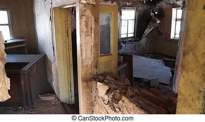 interior in an abandoned house