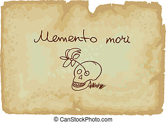 A memento mori is an artistic or symbolic reminder of the...