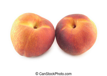 peaches - a few peaches on a white background
