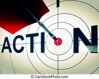 Action Shows Active Motivation Or Proactive - Action Target...