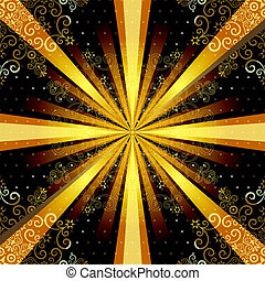 Vintage seamless pattern with rays - Vintage seamless...