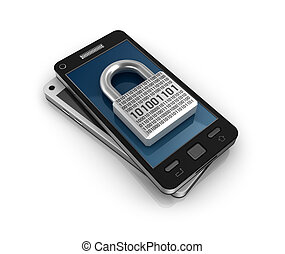 Smartphone with lock Security concept