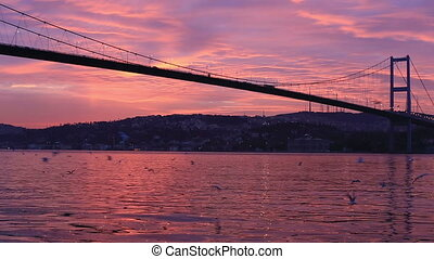 bosporus bridge - Bosporus Bridge at sunrise