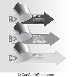 Three step arrows - Next steps conception