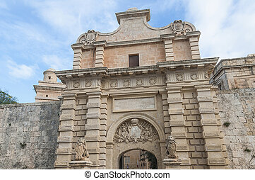 Main Gate in Mdina, Malta - Main Gate city access to Mdina...