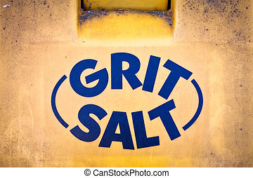Gritting salt - Container for gritting salt for use in...