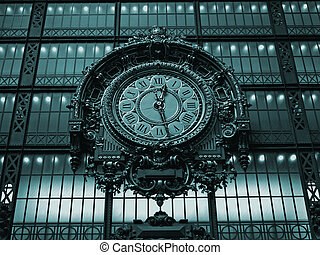 Paris - Ancient clock in the Orsay Museum - The Ancient...