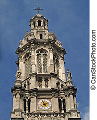 Paris - Bell tower of the Tinity Church - The bell tower of...