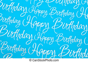 Happy birthday text as a background image