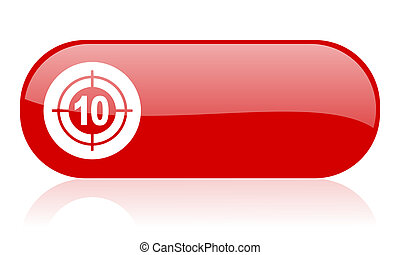 target red web glossy icon