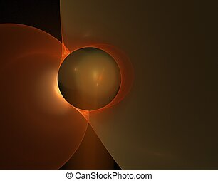 abstract fractal - a a rendering of an abstract colored...